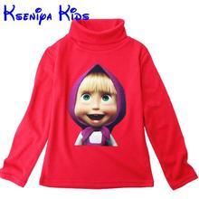 Turtleneck t-shirt boys designer girls cartoon sleeve clothes cotton children kids