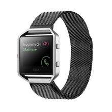 2016 Neuheiten milanese Edelstahl Link Armband Uhr BANDS Strap und Werkzeug für Fitbit Blaze Aktivität Tracker Smartwatch
