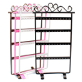 SUSENSTONE Useful 48 Holes Black Jewelry Handing Earring Display Necklace Showcase Rack Stand Holder
