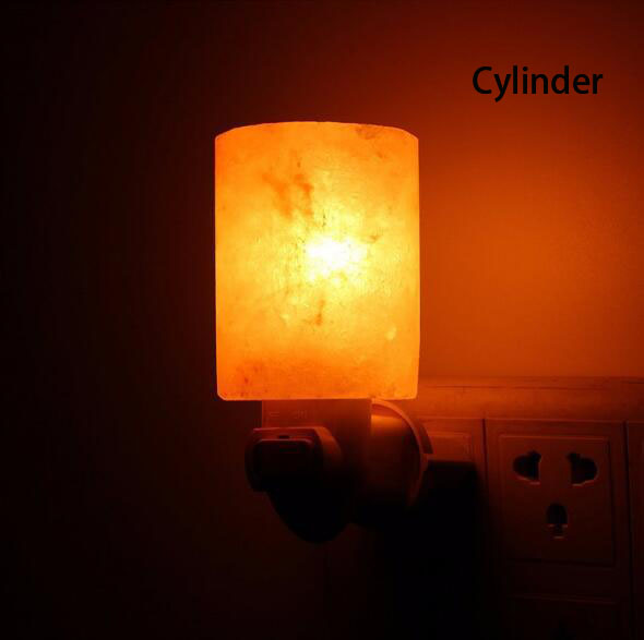 Himalayan Salt Negative lons Lamp 220V 7W With EU US Plug-in Wall Night Lamp For Bedroom Bedside Home Decor,air cleaning