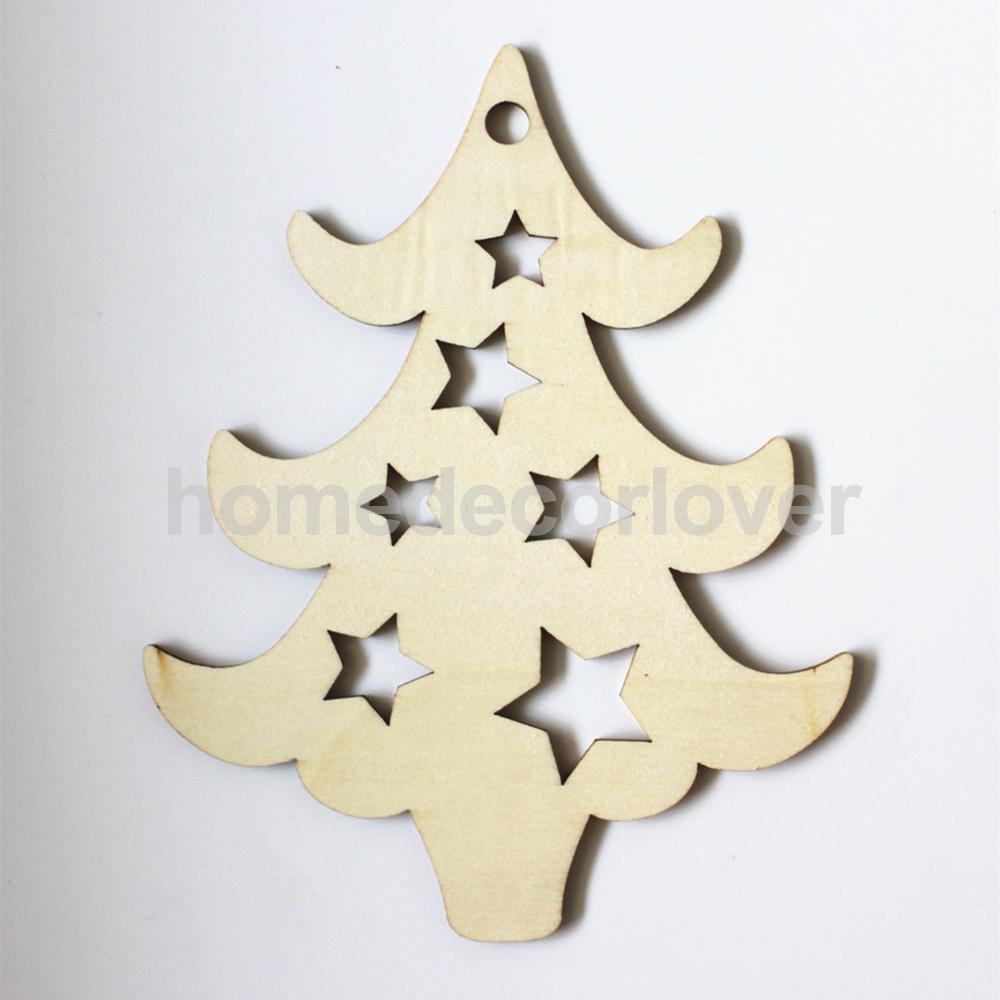 aliexpress com acquista 10pcs wooden wood cutout christmas tree