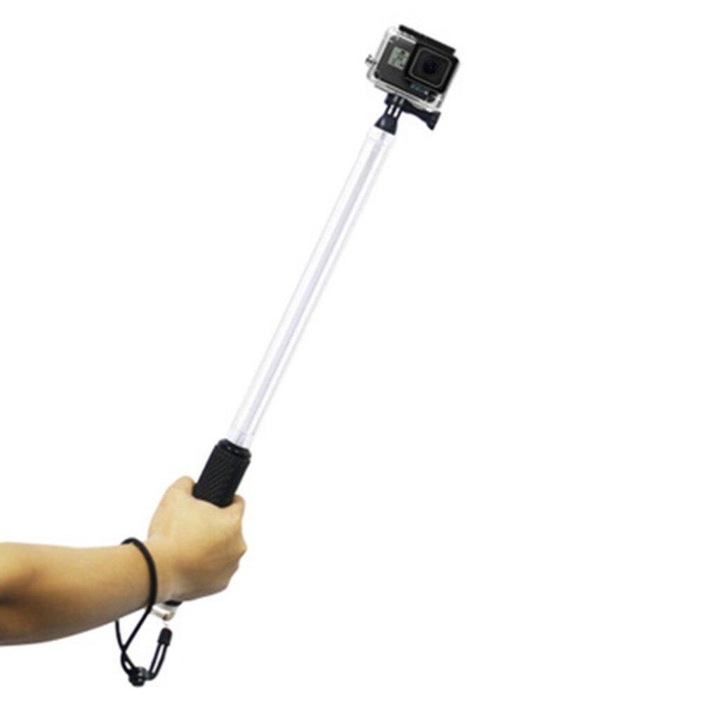 For Go Pro Selfie Stick Transparent Waterproof Telescope