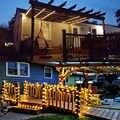 7/12/22 MLed クリスマスツリー花輪家/ストリートガーデン防水ソーラーチェーンストリングのクリスマスライト屋外バレンタイン装飾