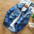 Camisas de Mezclilla de los hombres de Manga Larga Slim Fit Vaquero Camisas de Moda Casual Masculina 2016 resorte Camisa Jeans camisas Tallas grandes