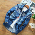 Men's Denim Shirts Long Sleeve Slim Fit Casual Male Cowboy Shirts Fashion 2016 spring Camisa Jeans shirts Plus Size