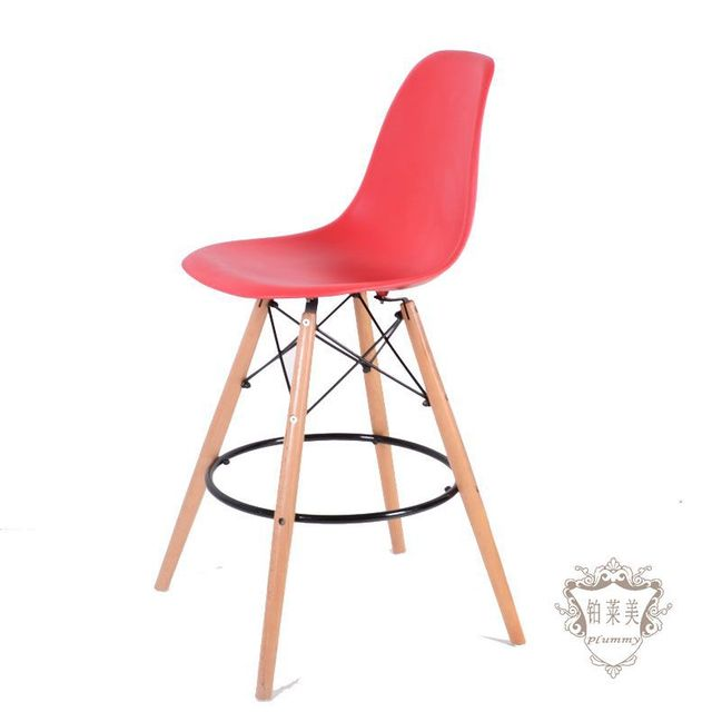 Gallery Of Platinum Lesmills Eames Chair Eames Chair Wood Highchair  Creative Trendy Bar Lounge Chair Backrest With Eames Stuhl Orange