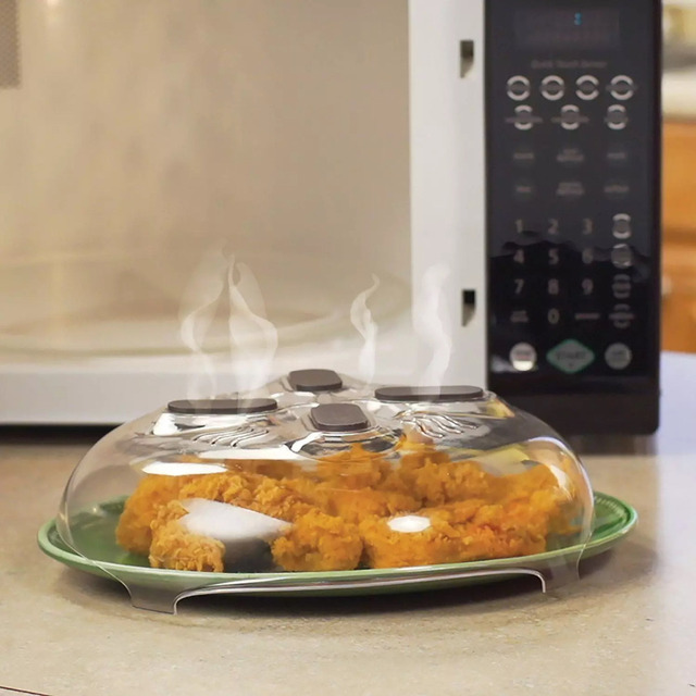 Universal Microwave Cover Magnet Food Splatter Guard Microwave Cover Anti-Sputtering Cover With Steam Vents