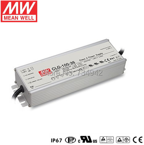 MEANWELL 24V 100W UL Certificated CLG series IP67 Waterproof Power Supply 90-295VAC to 24V DC nes series 12v 35w ul certificated switching power supply 85 264v ac to 12v dc