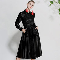 Черный бисером праздничное платье новое поступление модные женские платье на весну и лето большие размеры элегантные дамские винтажные То