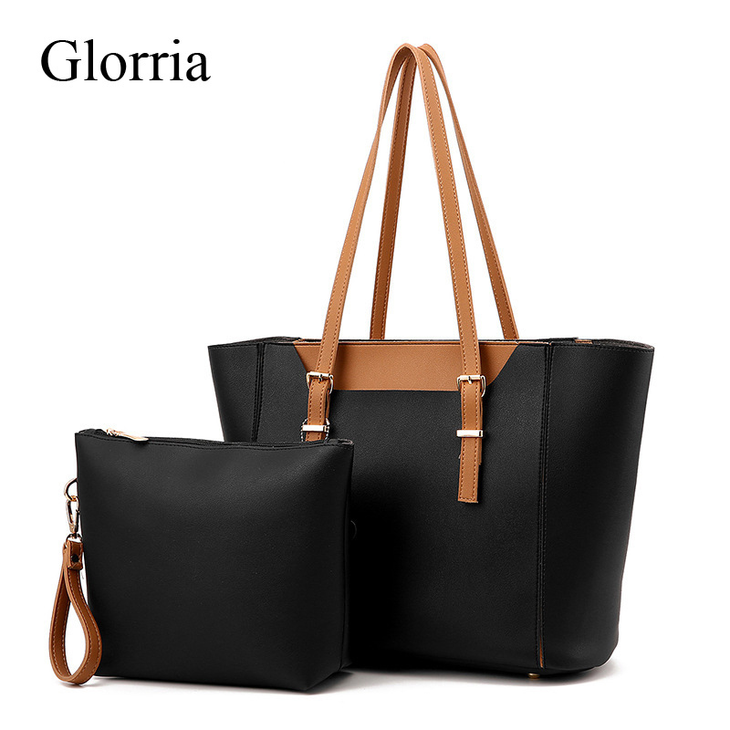 New 2 Sets Women Bag Luxury Female Shoulder Bag Lady Large Capacity Handbag Girl Famous Designer Tote Bag Leather Big Sac a Main kxybz women shoulder bags fashion famous brand female handbag luxury designer women crossbody bag large capacity tote sac k1017