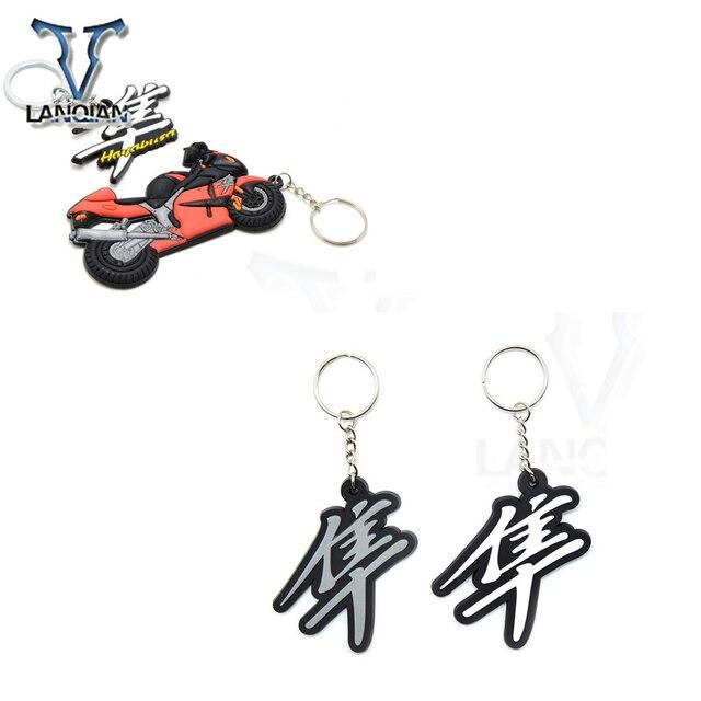 אופנוע דגם Keychain Keyring מפתח שרשרת מפתח טבעת מחזיק רך גומי לסוזוקי Hayabusa סוזוקי GSXR gsxr700 650 1000