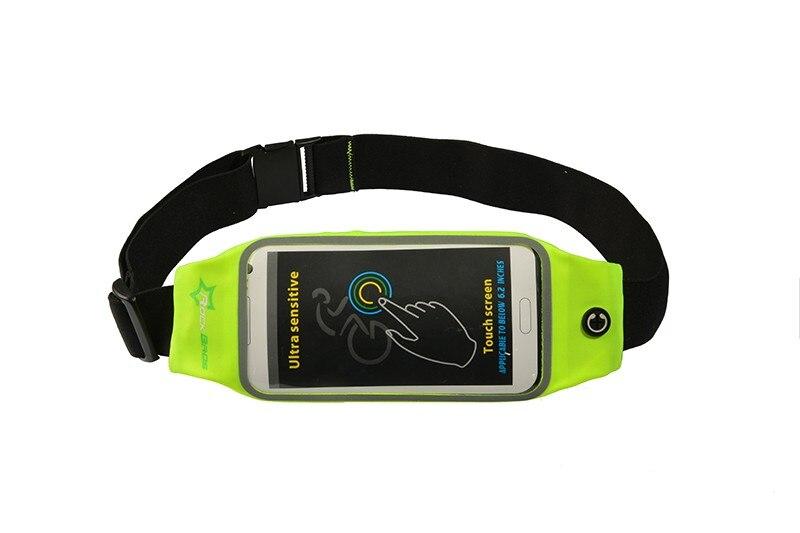 ROCKBROS Waterproof Running Bag Waist Bag Sport Belt Bags 5.8-6 Inch Phone Pouch Case Bags For IPhone 6 7 Plus Sport Accessories 20