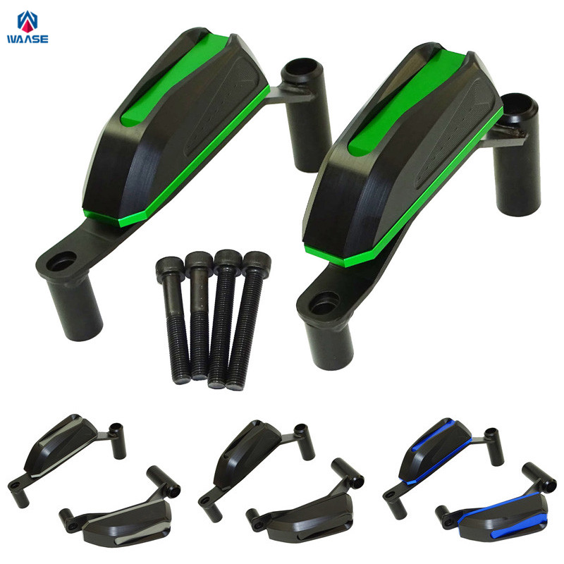 waase Motorcycle Parts Left & Right Engine Cover Crash Pads Frame Slider Protector For Kawasaki Z900 2017 zoomer ruckus fi nps50 engine frame extend extension kit cables black motorcycle parts