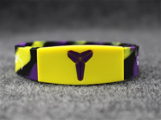 24pcs Basketball Player Silicone Bracelet Glow In The Dark Rubber Wristband New Sports Balance Bangle