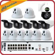 16CH 5MP POE H.265 NVR 3MP CCTV Камера P2P Водонепроницаемый + 5MP 30X зум Скорость купольная ptz-камера безопасности Системы + POE 4 ТБ HDD