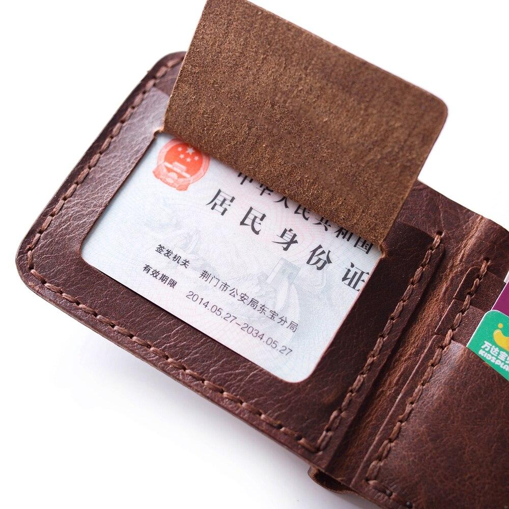 Äkta läder plånbok för män handgjorda vintage läder plånbok - Plånböcker - Foto 4