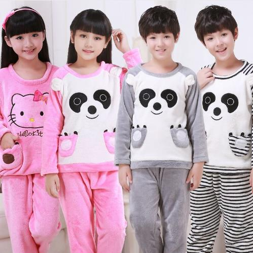 3e20d8ed7 Children rabbit ear long sleeved sleepwear suit Girls flannel ...