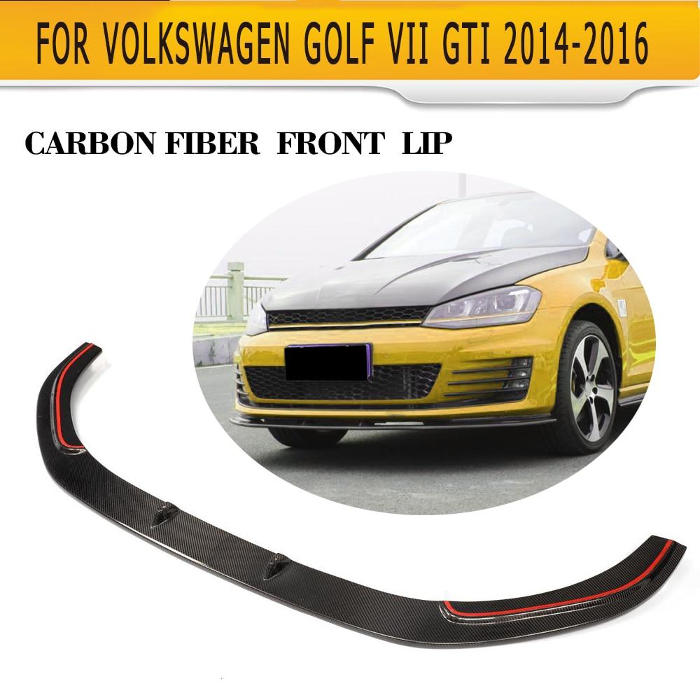 Carbon Front Bumper Lip Spoiler For Volkswagen VW GOLF VII 7 GTI JC style
