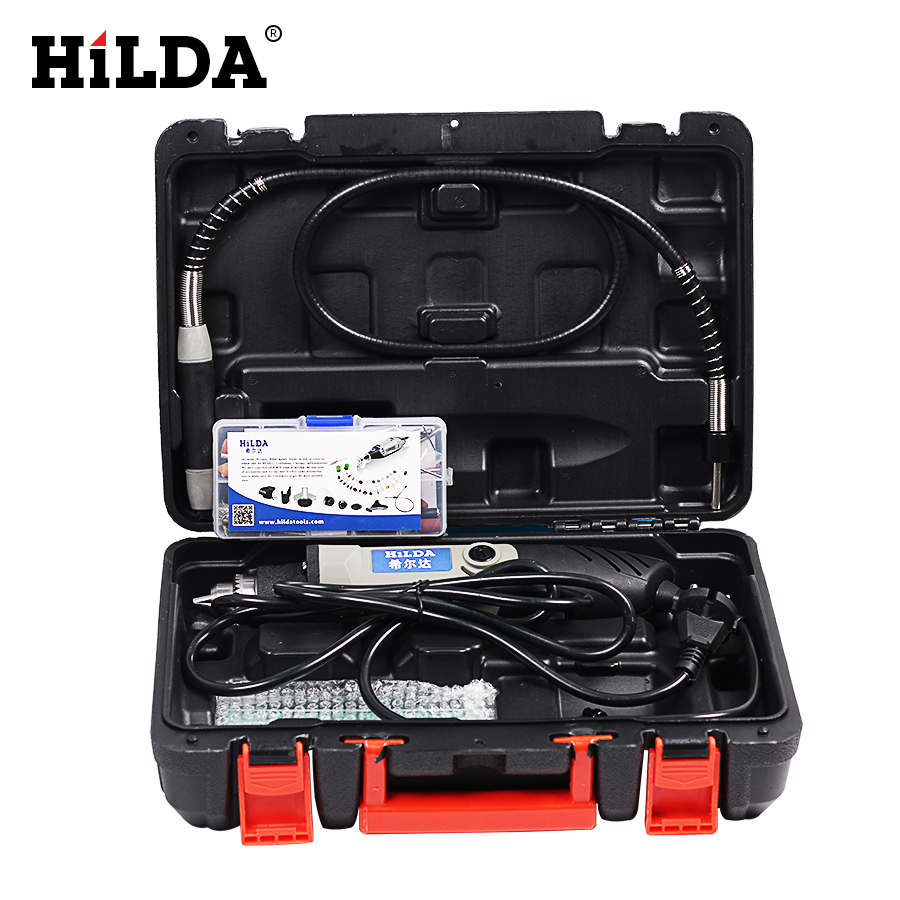 HILDA 84 pcs 400W Electric Variable Speed for Dremel Rotary Tool Mini Drill Electric Rotary tools 220V Power Tools