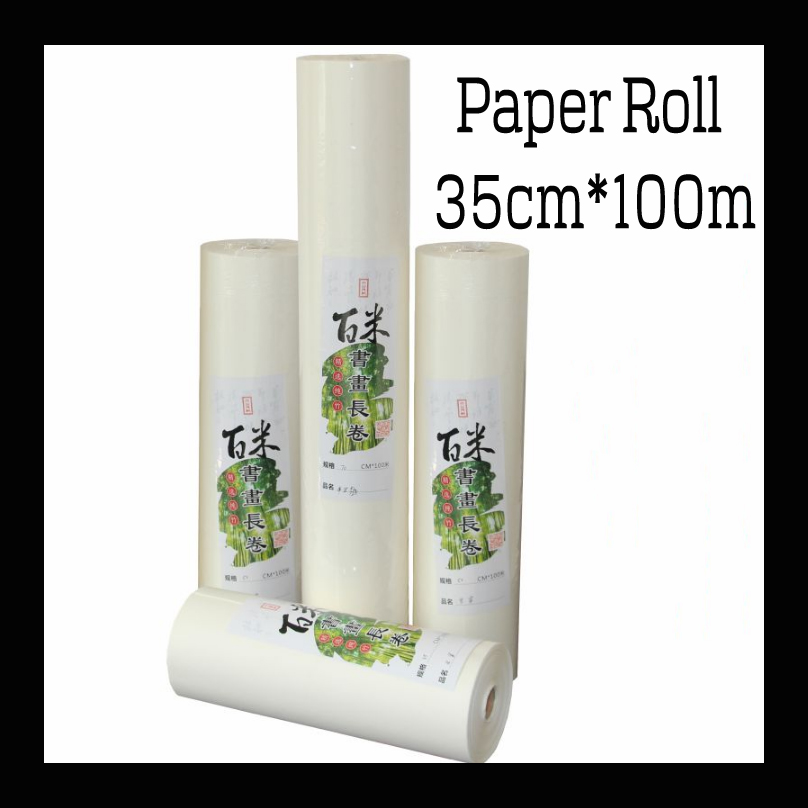 35cm*100m Chinese Painting paper Roll Rice Paper Calligraphy paper for Painting art paper supplies 45cm 10m water color painting paper a2 watercolor paper for acrylic paint painting drawing art set rice paper roll