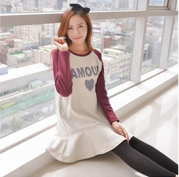 2017 spring and fall fashion  maternity clothes  Korean long sleeved maternity tops breastfeeding clothes SH-1439