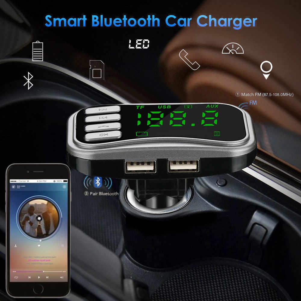 カーキットハンズフリーワイヤレス Bluetooth FM トランスミッター液晶 MP3 PlayerDual USB 充電器車のアクセサリーハンズフリー自動 FM 変調器