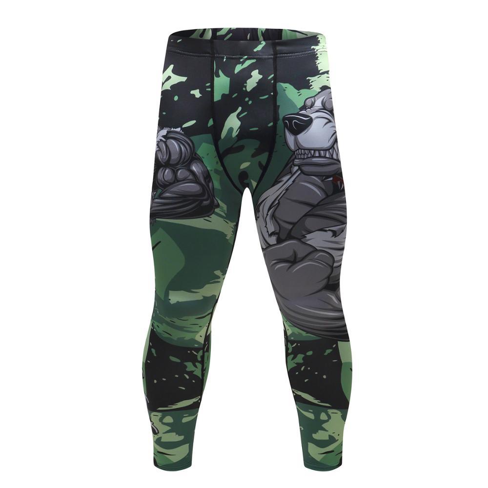 61220d0796be [HOT DEAL] US $11.41 for 2018 Mens Fitness Compression O-Neck Long sleeves  T Shirt Animal 3D Prints MMA Rashguard Tights Skin Man COCEDDB T-Shirts