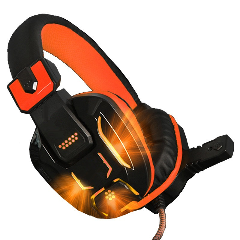 2018 New Arrival Gdlyl Gaming Headset Wired Earphone Gamer Headphone With Microphone LED Noise Canceling Headphones for Computer stereo gaming headset wired earphone game headphone with microphone noise canceling headphones for computer pc game music