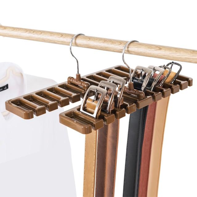 Tie Belt Organizer Space Saver Rotating Scarf Ties Hanger Holder Hook Closet  Organization Tank Tops Bra