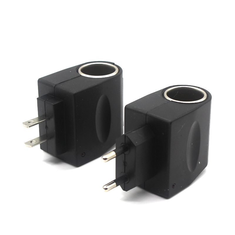 LARBLL Universal <font><b>Car</b></font> Cigarette Lighter Plug <font><b>Power</b></font> <font><b>Adapter</b></font> 220 To <font><b>12V</b></font> Home <font><b>Power</b></font> Socket 2 Stypes image