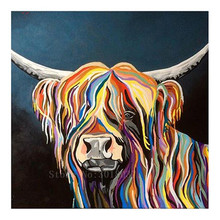 Diy 5D Diamond Painting Cross Stitch Multicolored Yak Mosaic Full Embroidery Rhinestone Gift Decoration Stickers