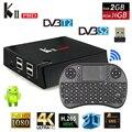 KII PRO DVB T2 Caixa de TV Android 2 GB 16 GB DVB-T2 DVB-S2 Android 5.1 S905 Amlogic Dual WIFI KDOI K2 pro 4 K Smart TV Box + Teclado i8