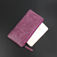 women genuine leather wallet female long cowhide card holder high quality fashion coin purse