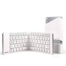 [HFSECURITY] Foldable Bluetooth Keyboard Windows Android 4.0 IOS Folding Bluetooth Keyboard Wireless Holder Bluetooth Keyboard