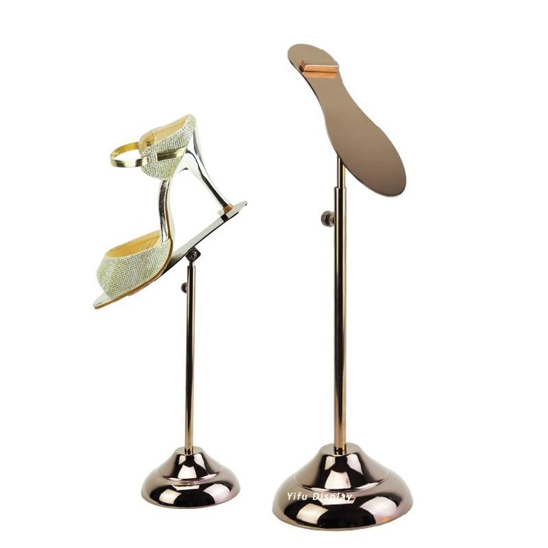 Envío gratis Metal Rose Gold Shoe Display Stand Shoe Riser Stand - Organización y almacenamiento en la casa - foto 1