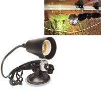 Professionele 360 Graden Roterende Aquarium Lamp voor Reptiel Voerbox Muur Zuig E27 lamphouder
