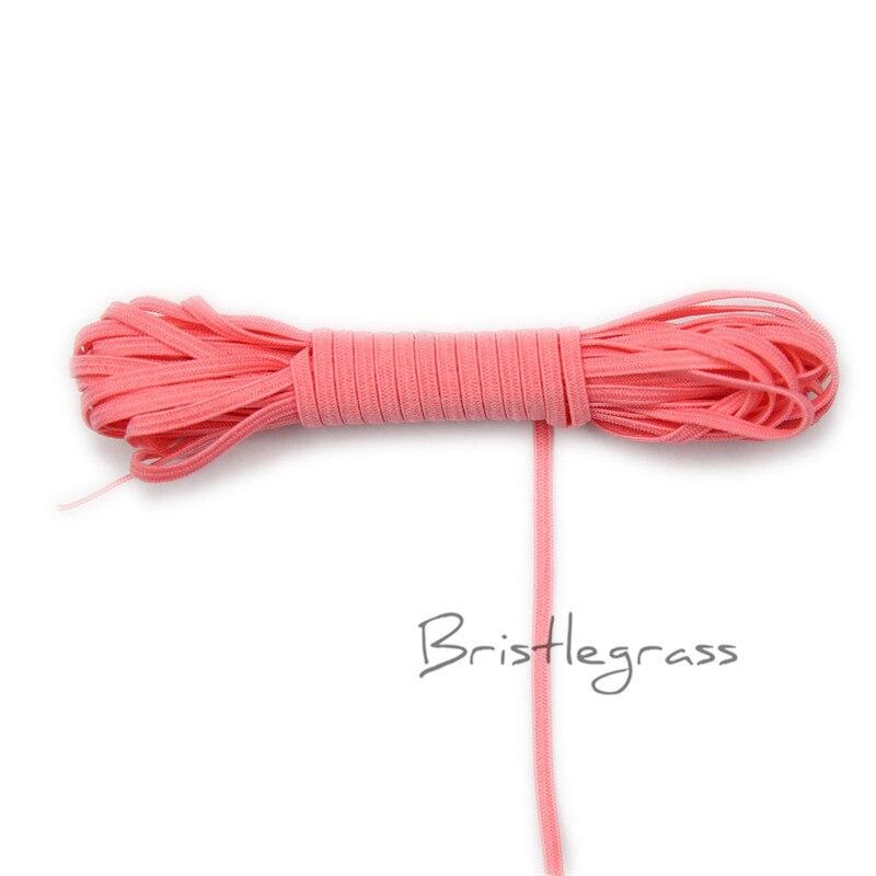 BRISTLEGRASS 5 Yard 1/8 3mm Tan Solid Color Skinny Elastics Spandex Band Kid Hairband Headband Tie Lace Trim DIY Sewing Notions