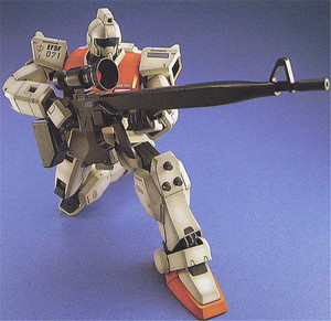 Image 3 - Bandai Gundam MG 1/100 RGM 79[G] GM TERRA TIPO di Mobile Suit Action Figure Assemblare Modello Kit toy
