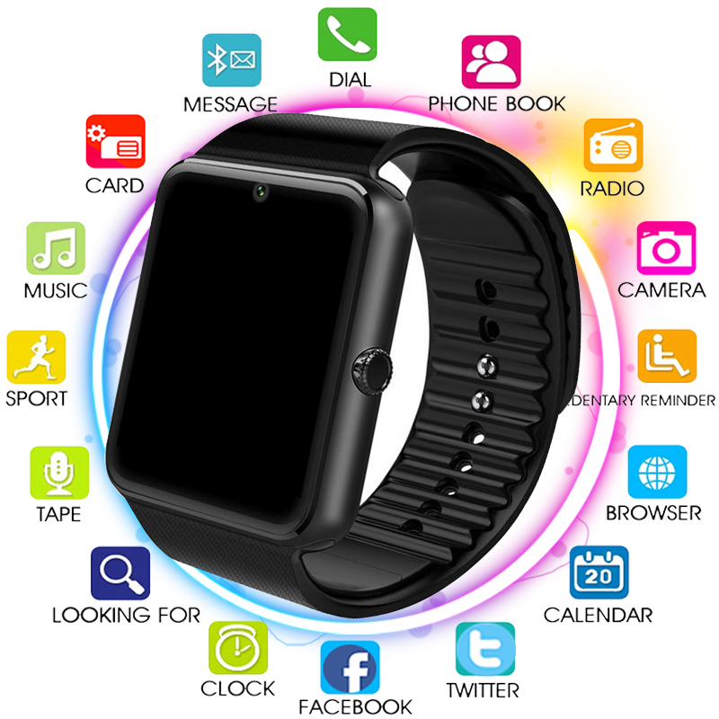 Original Smart Watch GT08 Clock Sim Card Push Message Bluetooth Connectivity For Android IOS apple Phone PK Q18 DZ09 SmartwatchOriginal Smart Watch GT08 Clock Sim Card Push Message Bluetooth Connectivity For Android IOS apple Phone PK Q18 DZ09 Smartwatch