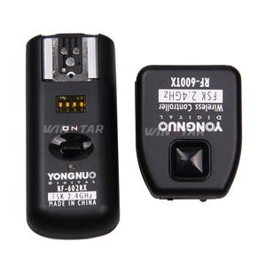 Image 2 - Yongnuo RF 602 RF602 C 2.4GHz Remoto Sem Fio Disparador de Flash Para Canon 800D 760D 750D 700D 650D 600D 550D 1300D 1200D 1100D 100D