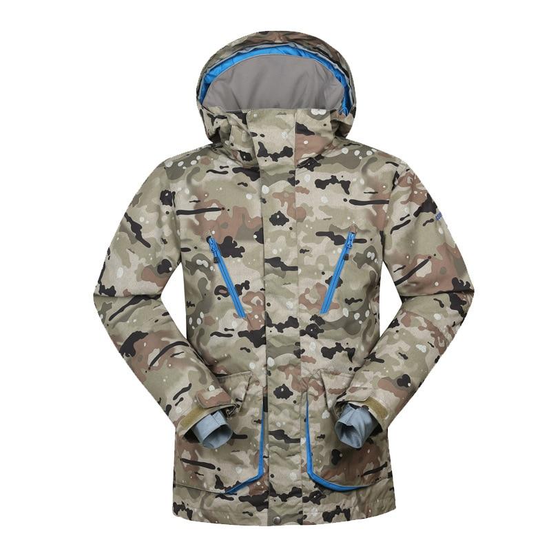 GSOU SNOW combinaison de Ski pour hommes coupe-vent imperméable veste de Ski hiver vêtements respirants de plein air résistant à la neige pour hommes