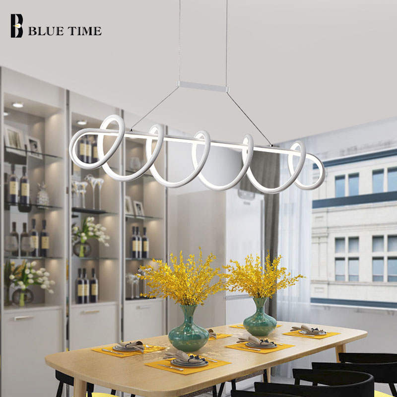 Image 3 - Black&White Modern LED Pendant Light For Living Room Dining room Kitchen Ceiling Mounted Lamp Led Pendant lamp Hanging Lamp Home-in Pendant Lights from Lights & Lighting