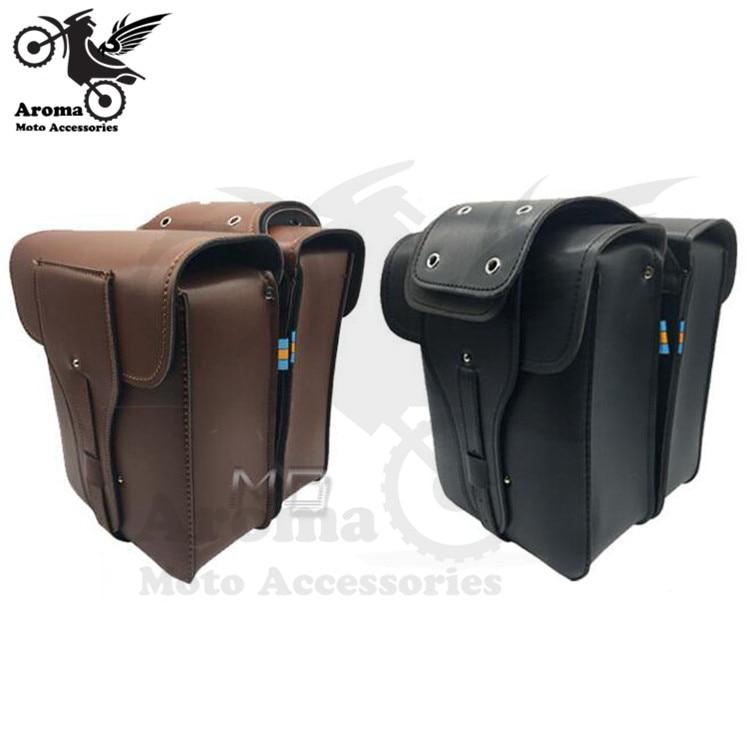 retro universal parts motorbike tail luggage pouch moto side bags for kawasaki honda suzuki yamaha Harley motorcycle saddle bag