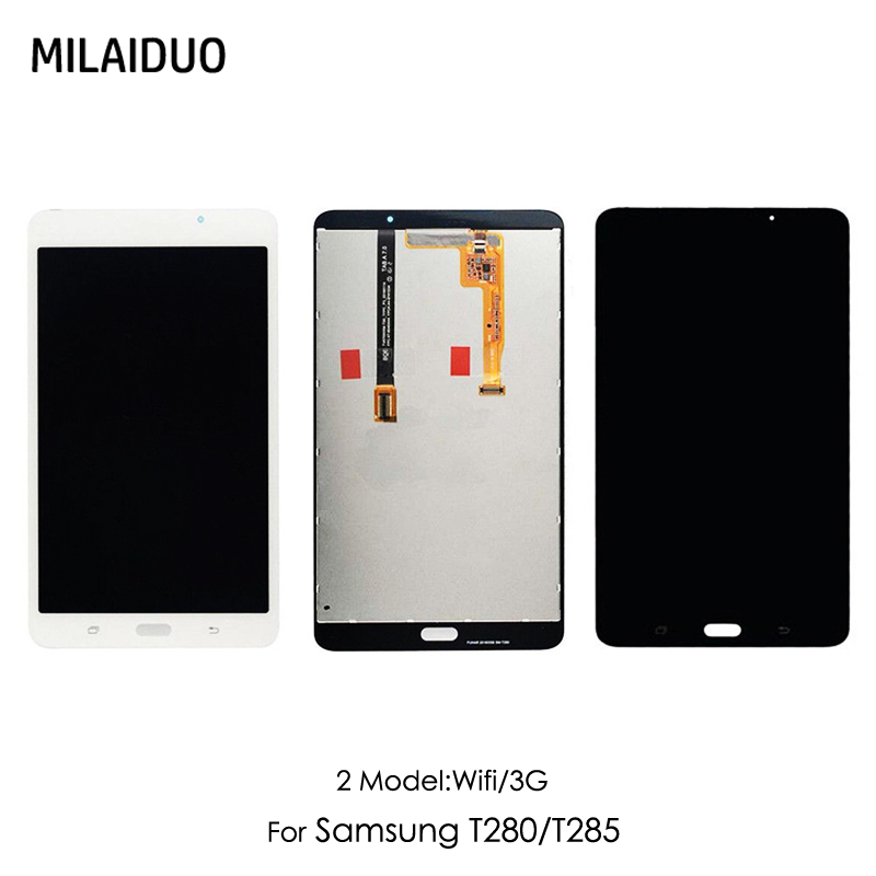 LCD Display For Samsung Galaxy Tab A T280 T285 SM-T280 7.0' Touch Screen Digitizer Panel Glass Panel Monitor Assembly Wifi/3G