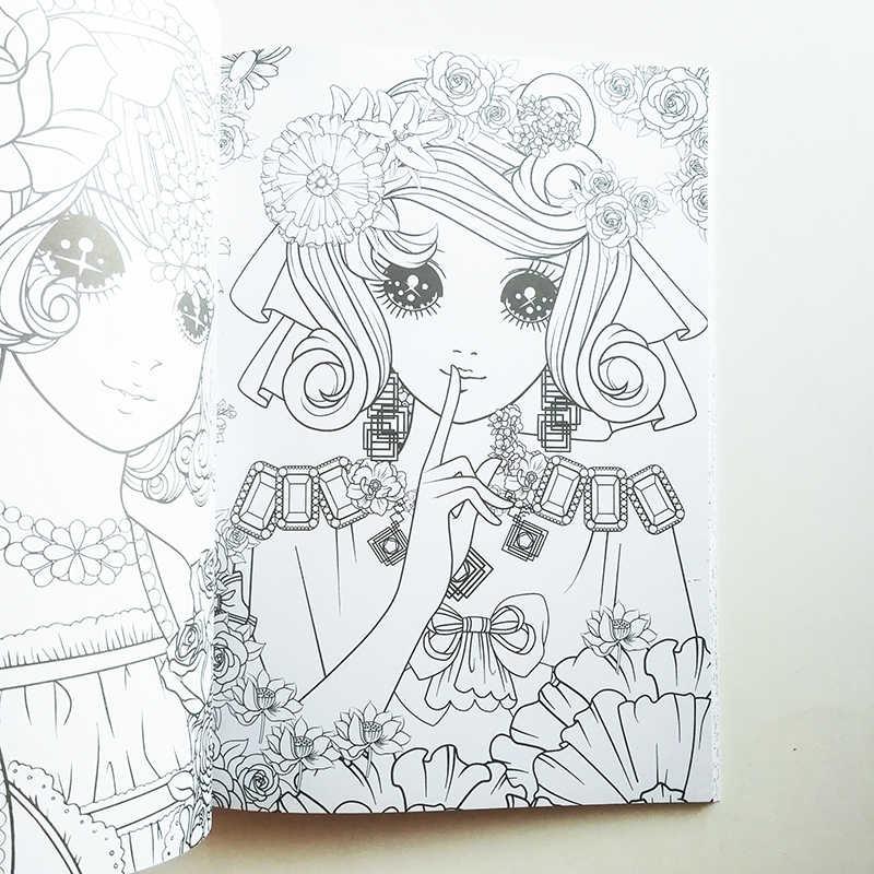 Livre De Coloriage Princesse Monde De Fleurs 112pages Livre De Coloriage Pour Enfants Filles Adultes Livre D Activite Grande Taille Aliexpress