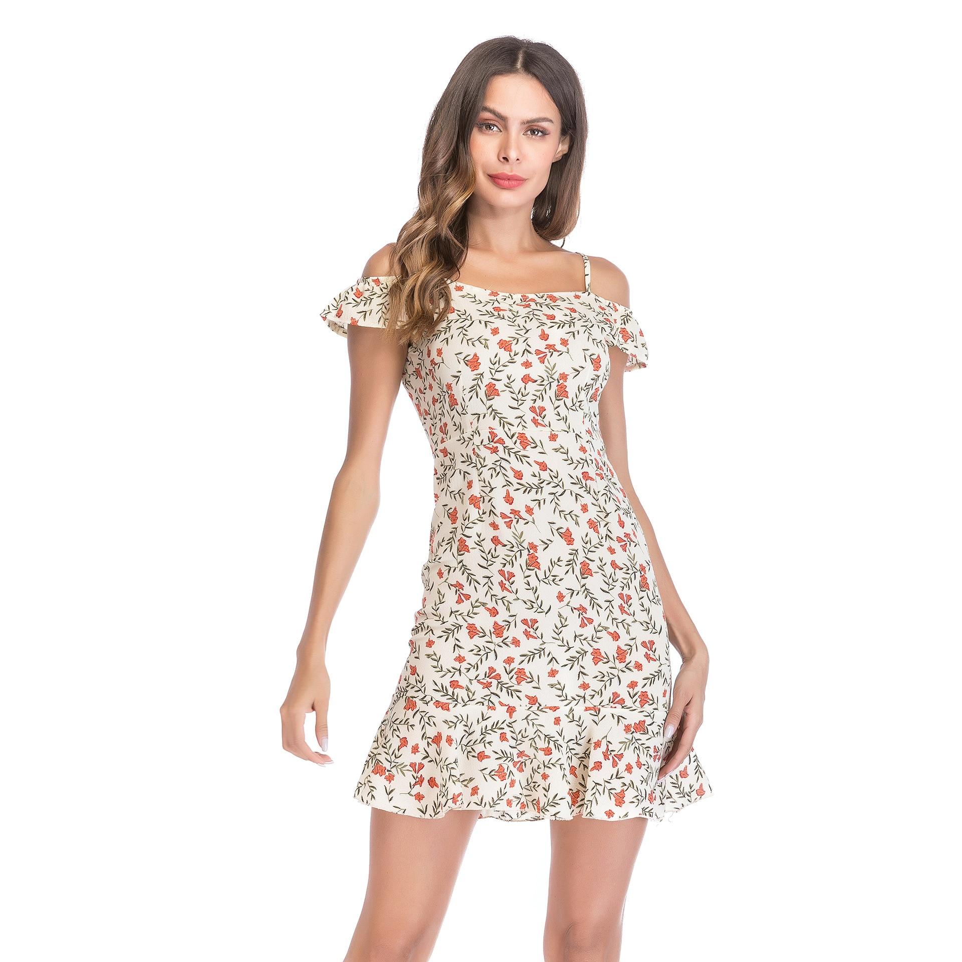 20dd8e0aadc8 2018 Summer Dress Women Chiffon White Dress Party Off Shoulder ...
