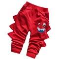 2017 nova Primavera do bebê calças de menino Engraçado bonito dos desenhos animados de alta qualidade 100% do bebê do algodão meninas calças crianças calças calças 0-2 anos de bebê