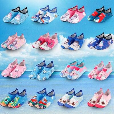 ילדים Cartoon לשחות נעלי יחפים ילד ילדה אנטי להחליק גרבי חוף בריכת קל אקווה גרבי החלקה מהיר ייבוש נעליים