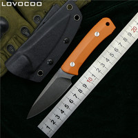 LOVOCOO Original Nettle fixed blade knife D2 steel G10 handle outdoor hunt survival pocket kitchen knives camping EDC tools