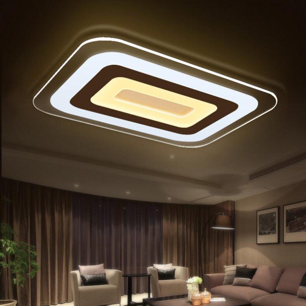Modern Ultra-thin Acrylic White Led Ceiling Light Fixture with Remote Control Surface Mounted Living Room Bedroom Ceil Lighting